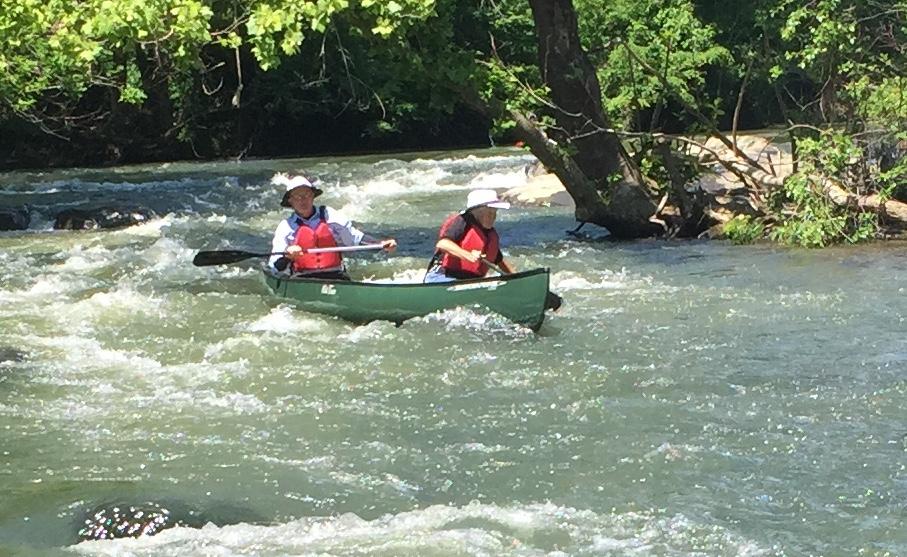 Keith & Patty Smith used a canoe.