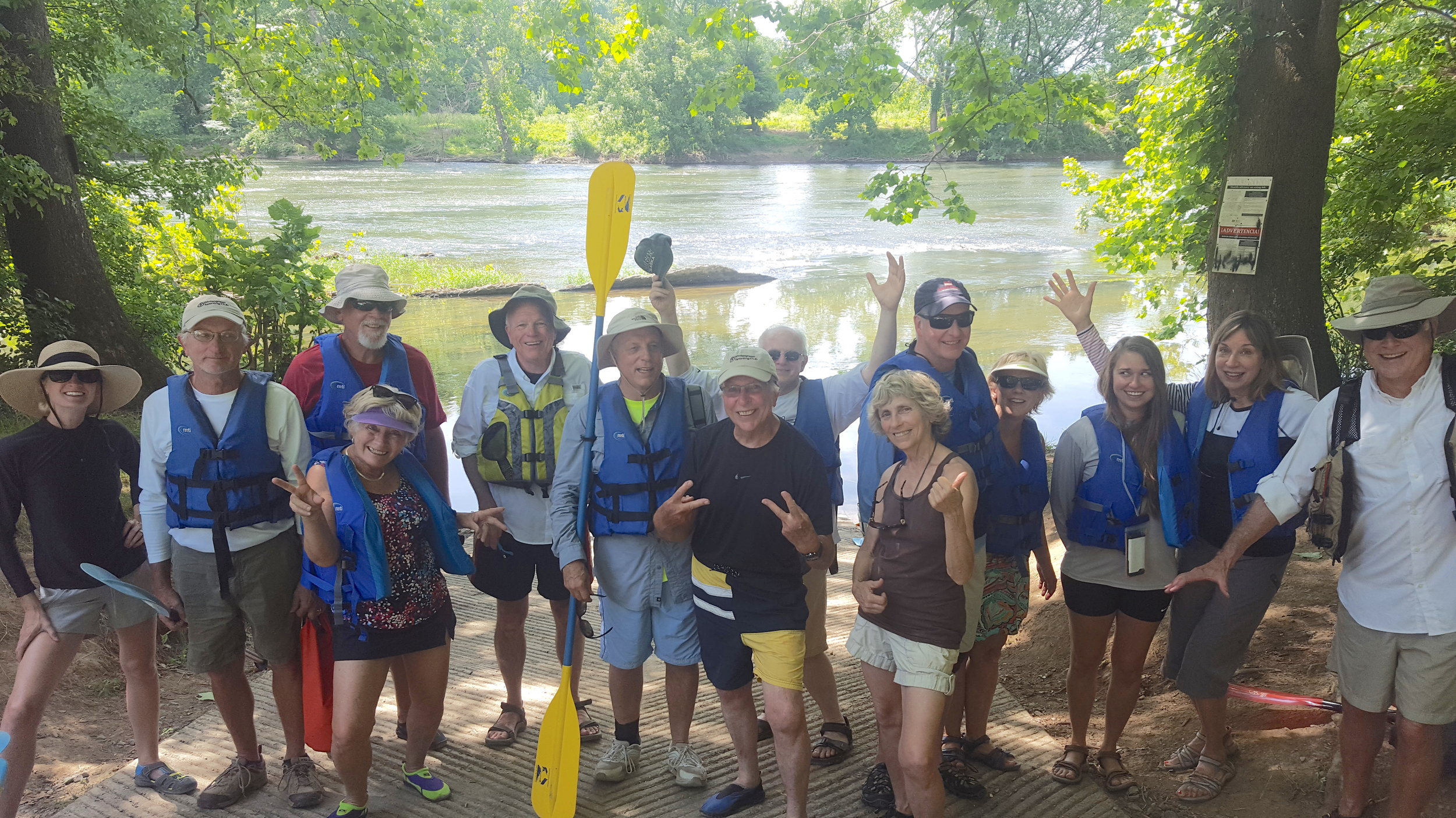Some 14 people made the trip on June 14th.    WSC members brought along friends and family.    Shenandoah River Outfitters    handled it all easily with first-rate gear and a fun attitude.