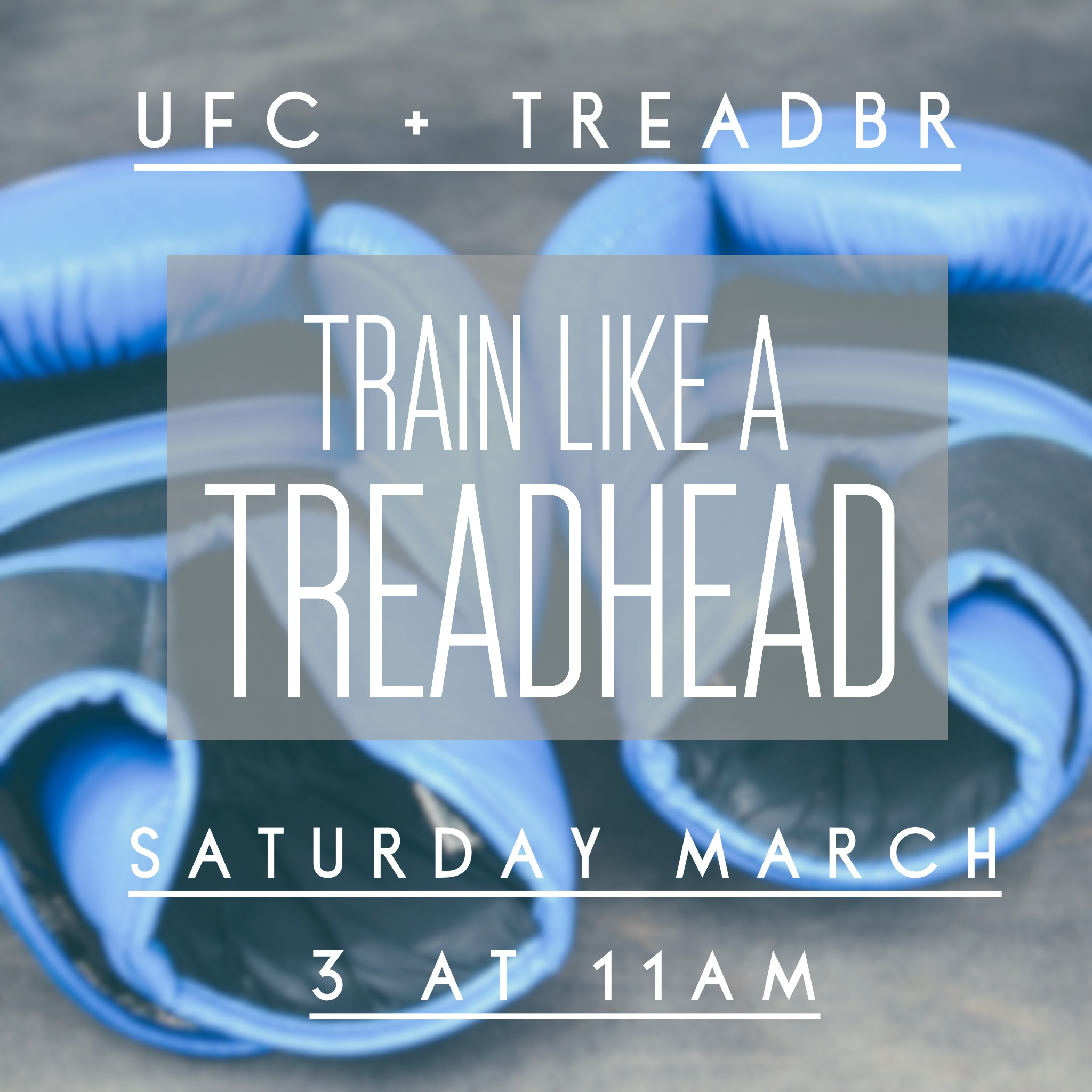 Join us at TreadBR! We're partnering with our neighbors at UFC to bring you the ultimate boxing and treadmill based workout.