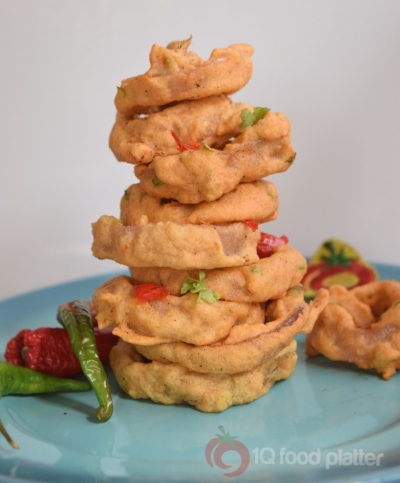 Nigerian food blogger 1Q food platter's akara onion rings