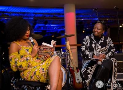 Chibundu Onuzo with Ellah Allfrey at Welcome to Lagos launch