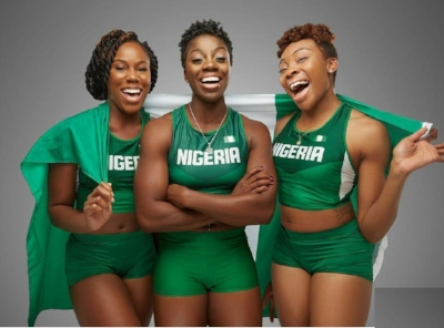 Nigeria's First Bobsled Team (from left to right): Akuoma, Seun, Ngozi (Photo Credit: Obi Grant)