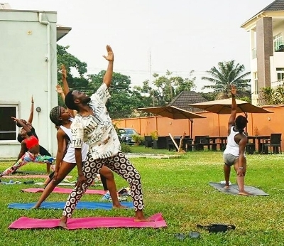 Emeka and Ifeyinwa at yoga.jpg