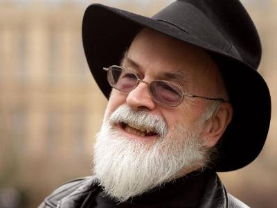 Writer Terry Pratchett - one of Inua's earliest inspirations