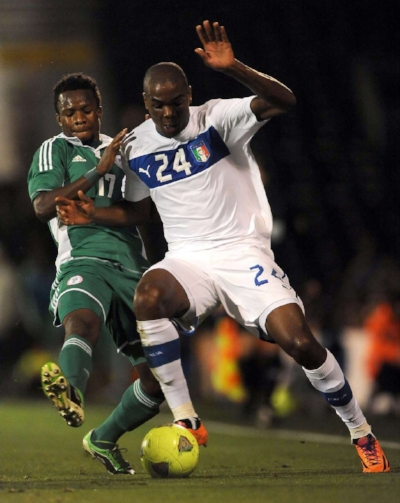 Angelo Ogbonna playing for Italy against Nigeria during an international friendly match in 2013 (credit: Liverpool Echo)