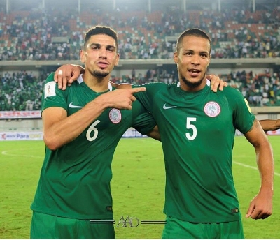 The Oyinbo Wall - Leon Balogun (left) with William Troost-Ekong (right)