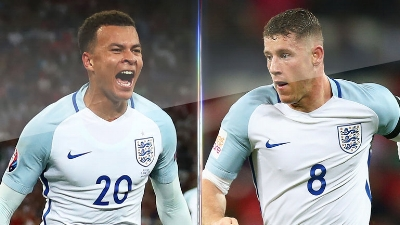 Dele (left) and Ross Barkley (right) in England colours (credit: Skysports)