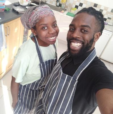 Ifeyinwa and Emeka kitchen-ready