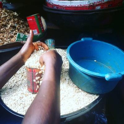 Egusi seller at Ketu Market, Mile 12 in Lagos