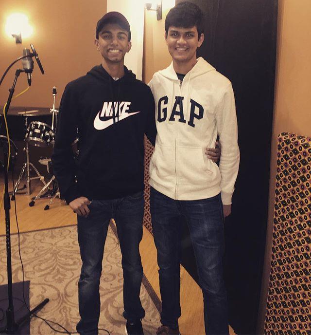in studio recording something new 🤔🤭