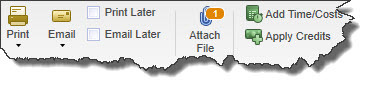 Figure 3: Many QuickBooks forms display the Attach File icon.