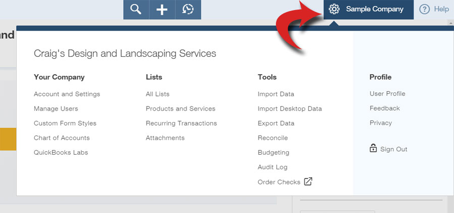 FIGURE 1: You'll want to explore the Settings window early on in your use of QuickBooks Online, but you'll often have occasion to revisit it.