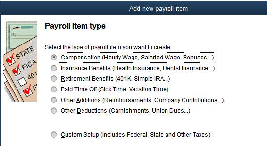 Adding new Payroll Items in QuickBooks Desktop