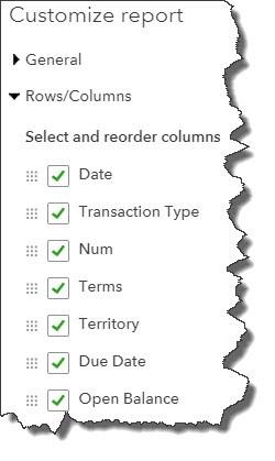 Customizing QuickBooks Online Reports
