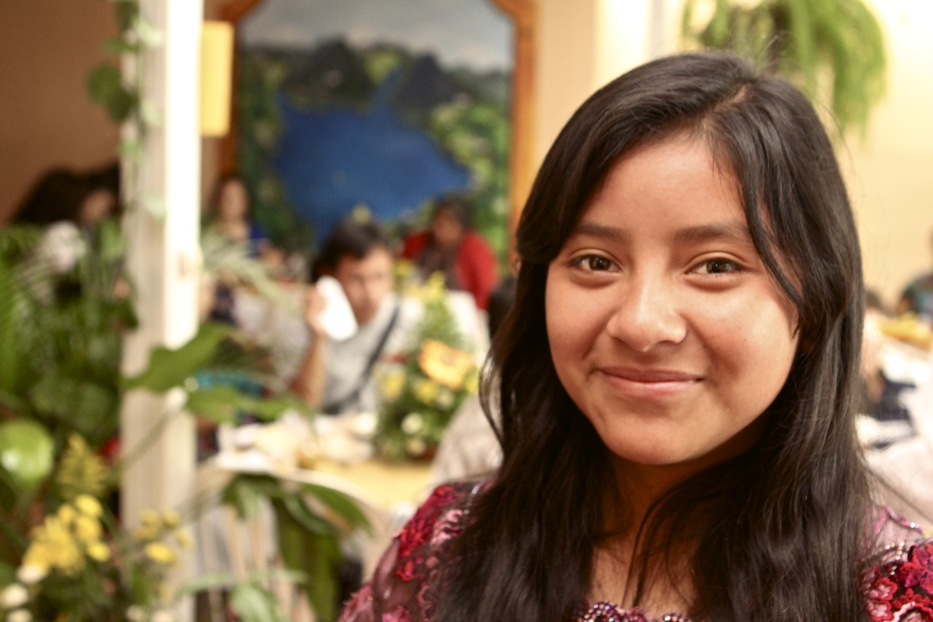 Lidia Lopic Chiyal, young leader, from the village of Buena Vista