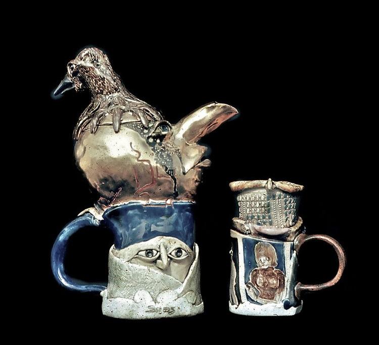 """Teapot Porcelain 13"""" 1972"""
