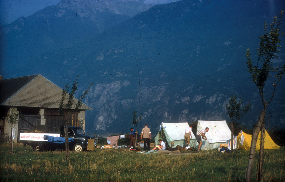Typical camp scene.