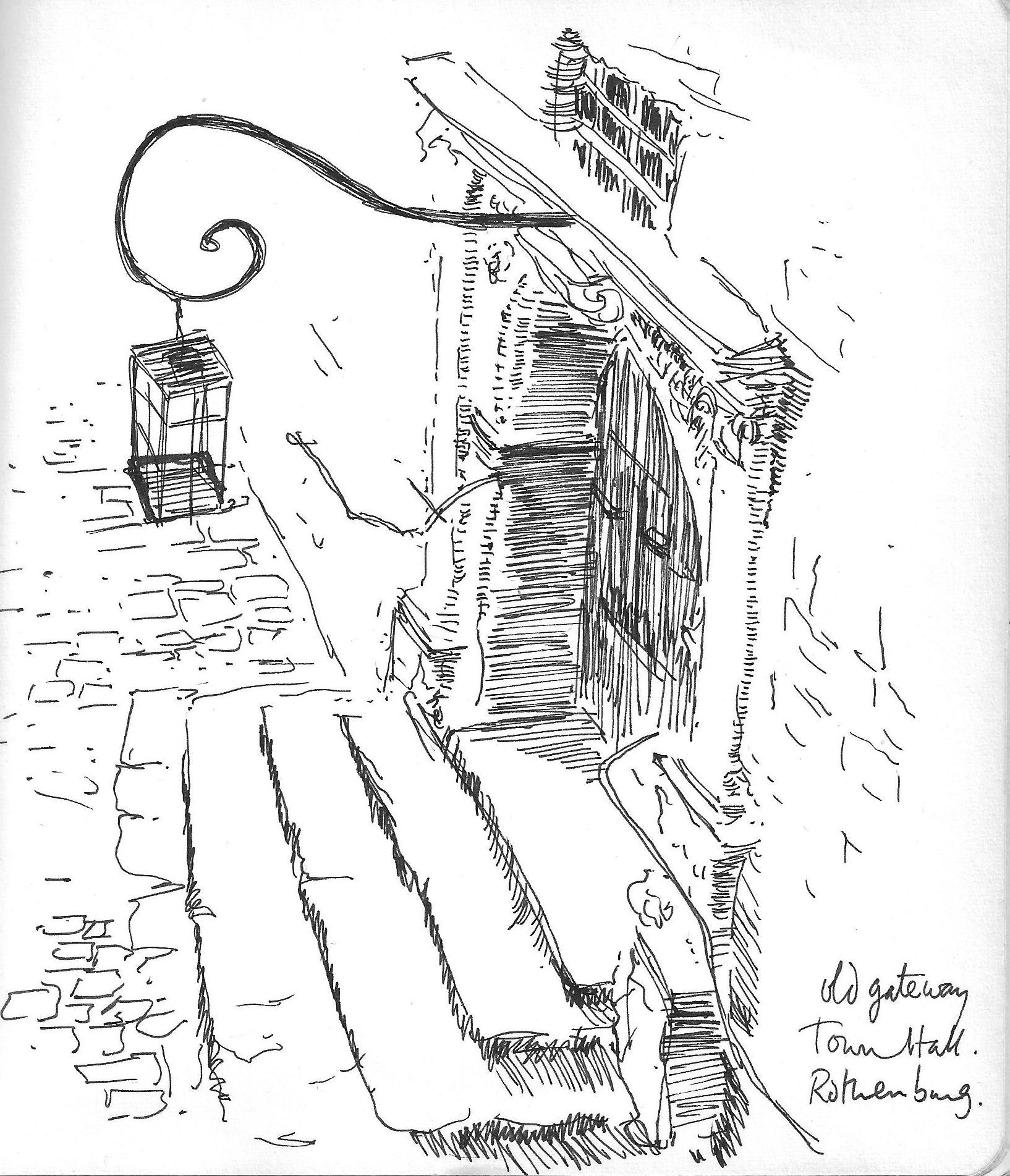 Old gateway, Town Hall, Rothenburg
