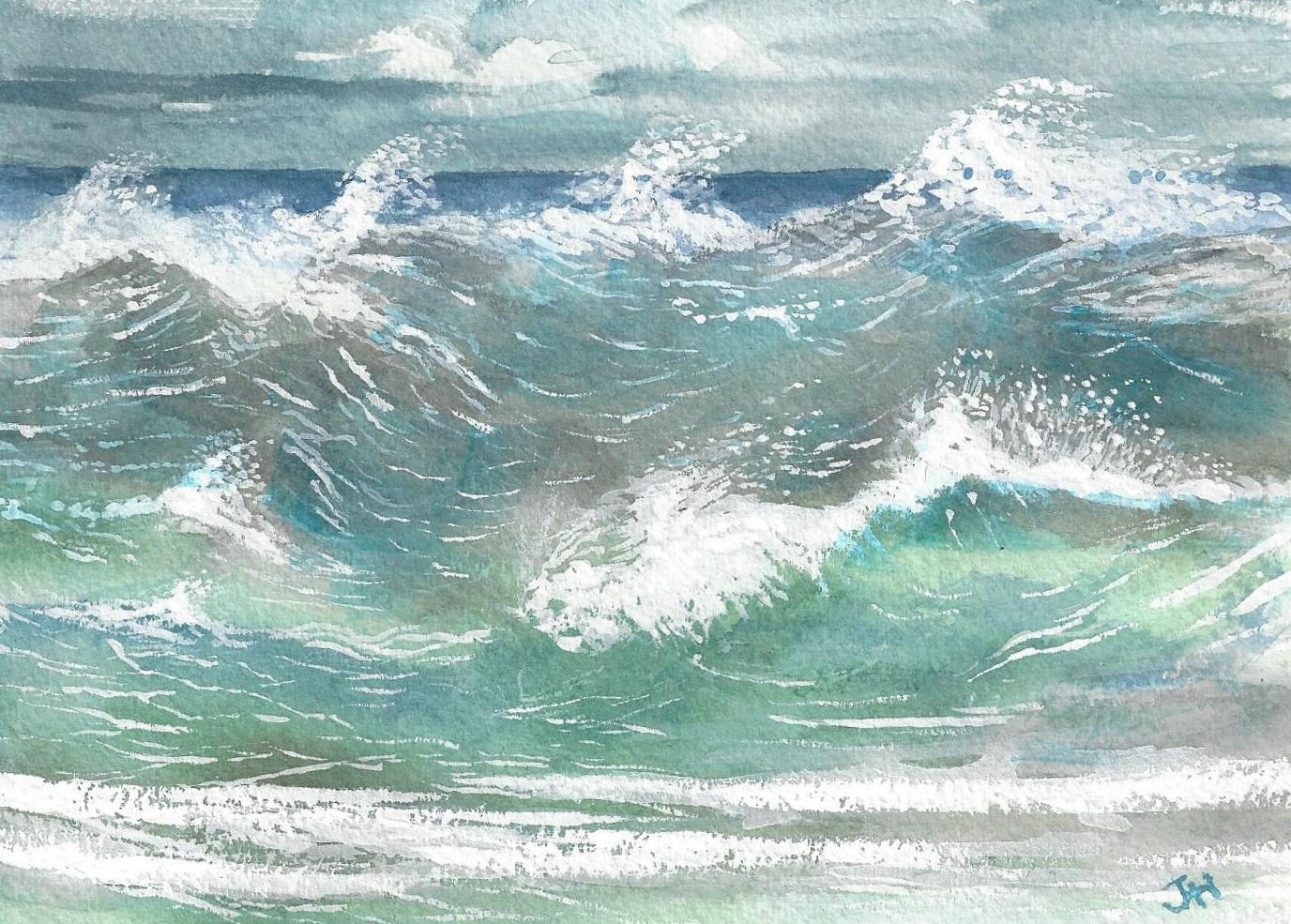 Wild Waves .. a tribute to my brother Rupert who inspired this painting