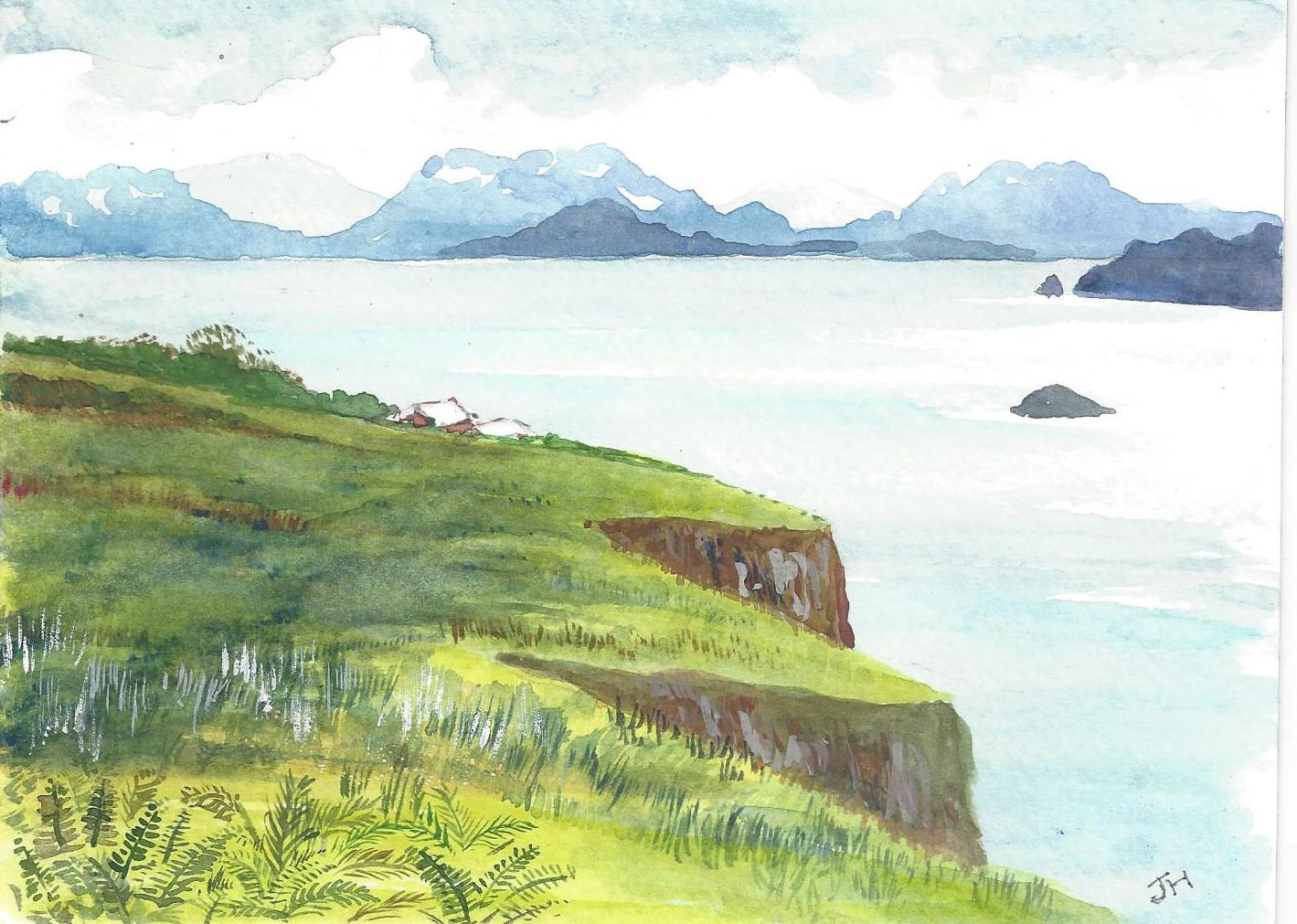 Kodiak Island from the Fields' Fish Camp