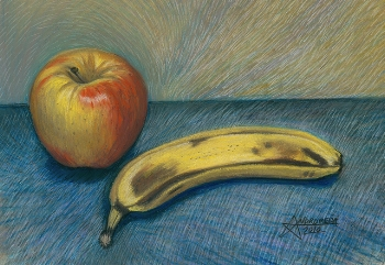 """Conversation with an Apple and a Banana""   Andromeda/Flickr"