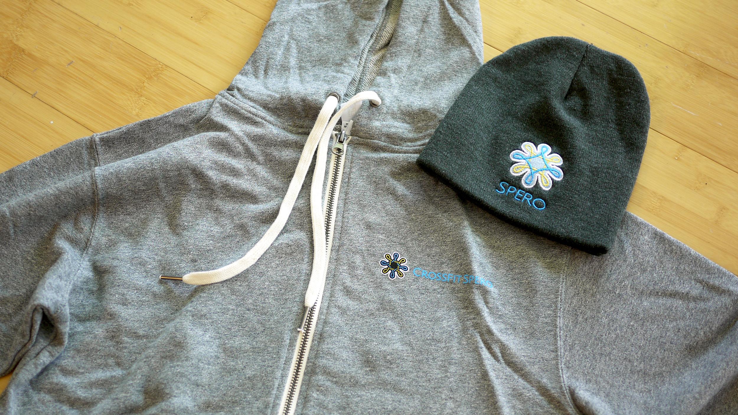 Crossfit Spero hoodie and beanie design