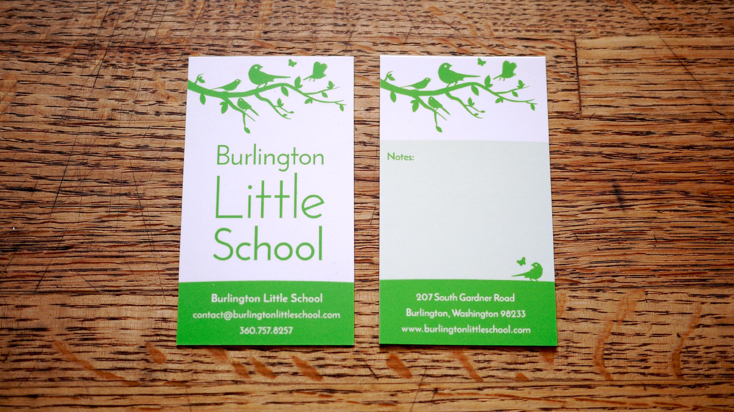 Burlington Little School business card design
