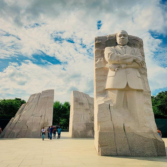 """Each time I visit the MLK Memorial, a different quote resonates with me. (Excerpts from his different speeches and sermons that he gave around the world line the black granite walls of the memorial.) The design of the memorial  Today, this is the one that caught my eye: """"Make a career of humanity. Commit yourself to the noble struggle for equal rights. You will make a greater person of yourself, a greater nation of your country, and a finer world to live in."""" . . . #travel #experientialtravel #takemeback #mytinyatlas #passionpassport #educationaltravel #washingtondc #traveling #exploremore #photooftheday #beautifuldestinations #bucketlist #jetset #findyourpark #traveldeeper #placesyoucanexplore #authentictravel #offthebeatenpath #travelgram #curatedbycath #mlk #wonderful_places #seetheworld #myhotlist #tourguide #huffpostgram #doyoutravel #visitdc #peace #nationalmall"""