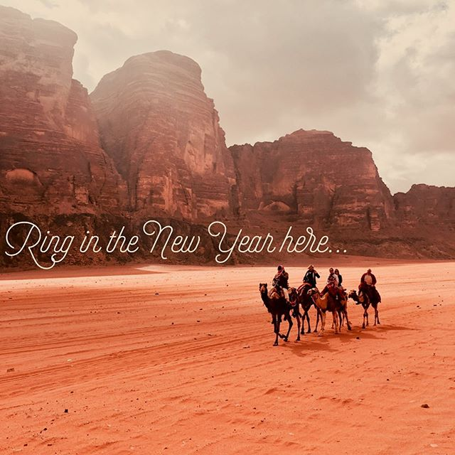 Stop with the bland NYE plans. This is 2020 we're talking about! #joinusinjordan to see Petra, float in the Dead Sea, and spend NYE under the stars of the red desert of Wadi Rum, where The Martian, Star Wars, and Aladdin were filmed. Link in bio!