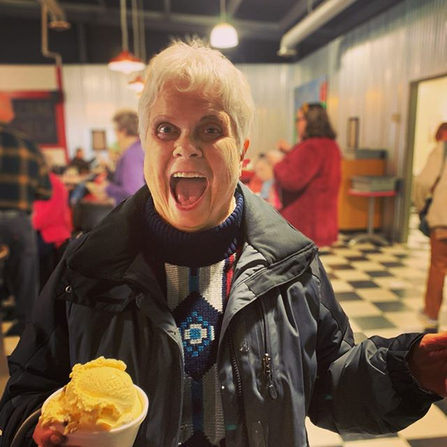TFW Cathleen makes a secret surprise stop for some of the best ice cream in Maine. Shoutouts to Jan and Margaret for sharing their levels of ice cream enthusiasm!  My choice? Maine Survivor - vanilla with peanut butter cups, peanut butter swirl, chocolate chip cookies, and Spanish peanuts... delicious. As the lovely @_danhendrickson would say, it's all about the fresh dairy found in New England. 🐄 🥛 🍨 . . . #icecream #curatedbycath #weallscreamforicecream #maine #mainefoodie #newengland #visitmaine #classicmaine #shainsofmaine #tourguidelife #gocollette #fallfoliage #icecreamweather #lifeontour #travel #travelgram #instatravel #ontheroadagain #dametravelerfoodie #foodietravel #visitnewengland