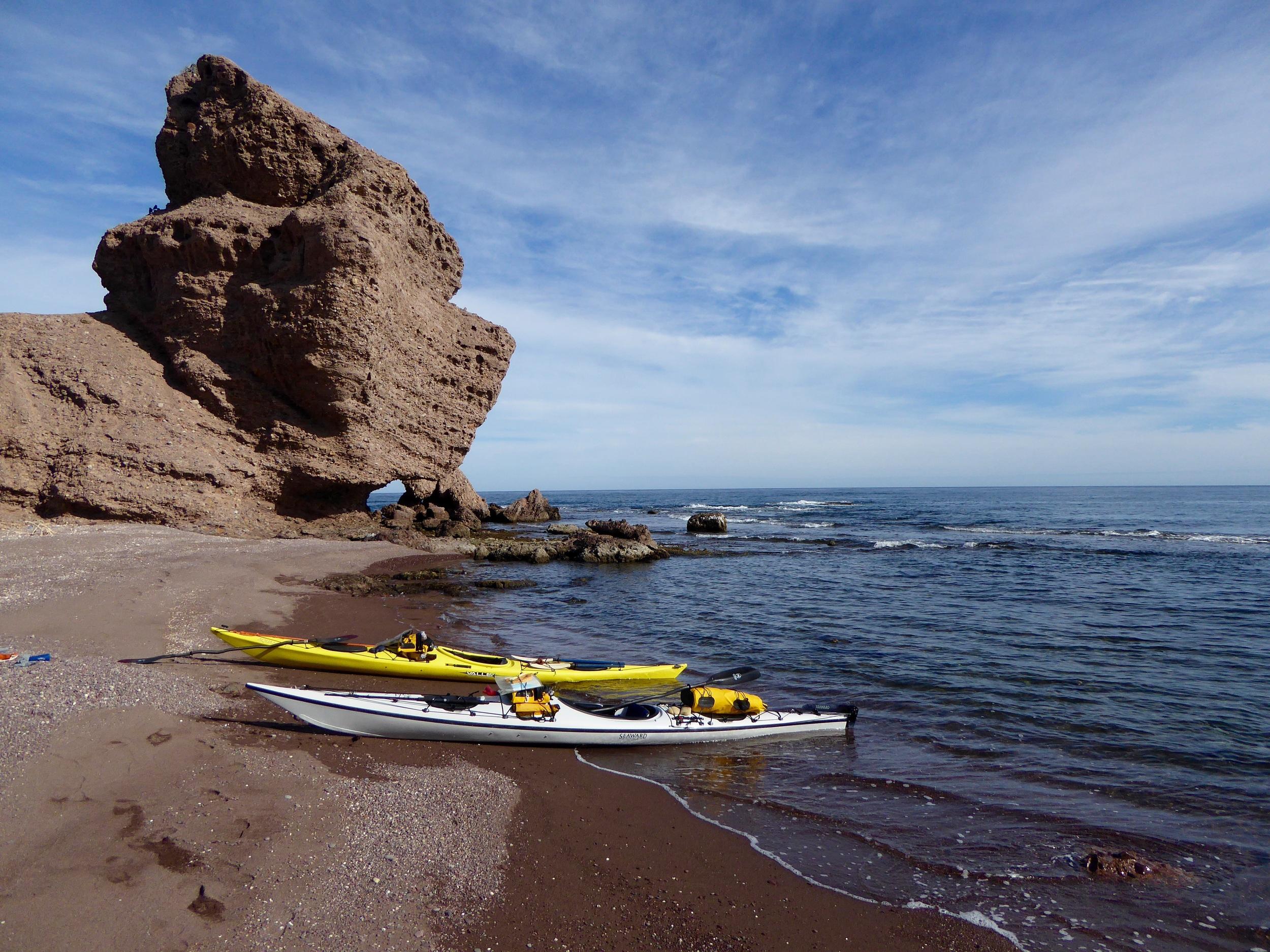 Taking a shore break