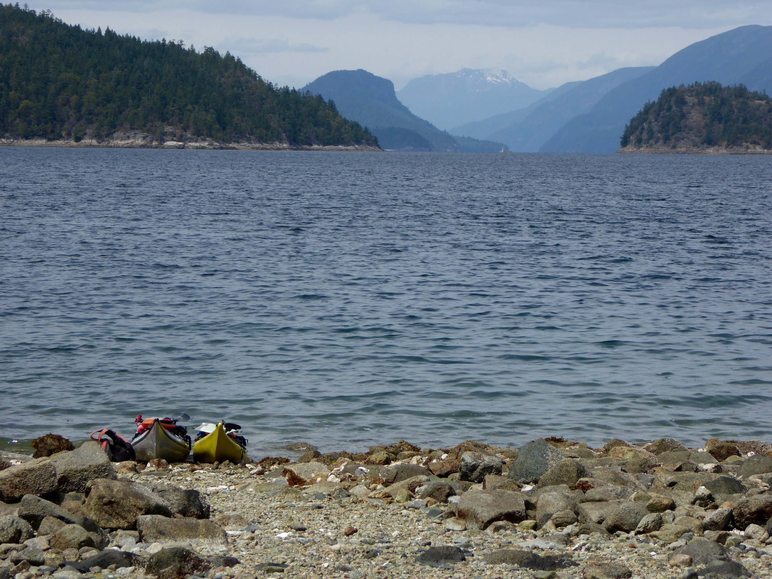 Checking out the fiord that we will soon be paddling!