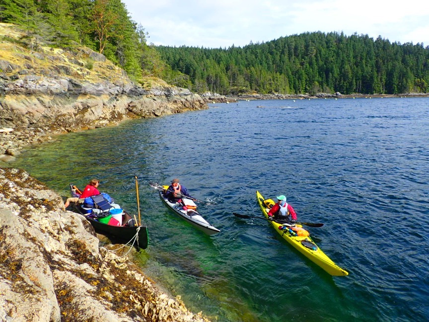 We talk to the paddlers in a protected area.