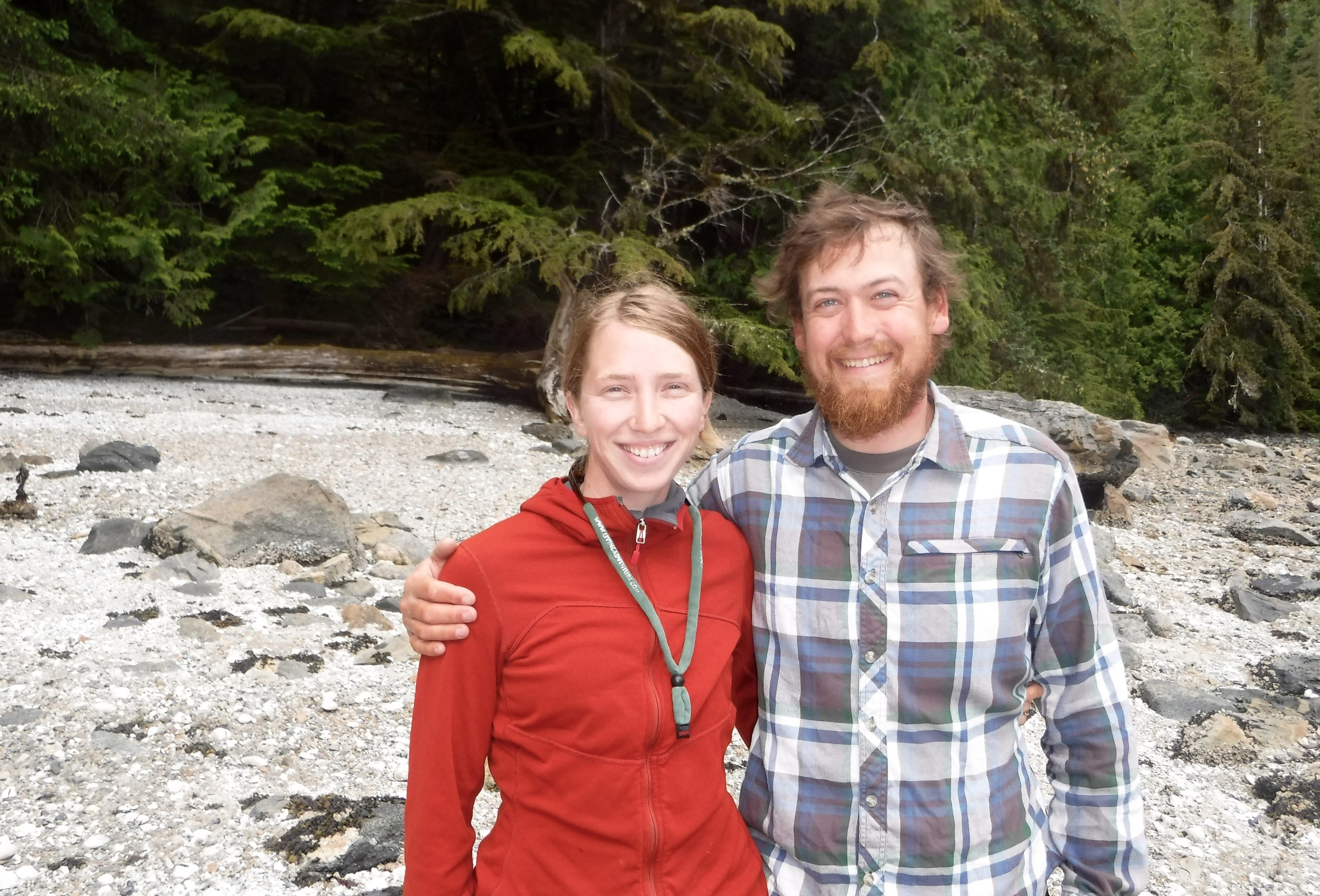 Hannah and Rodney - With these folks we have now met 4 kayakers doing the Inside Passage and that was all that we met for the rest of the trip