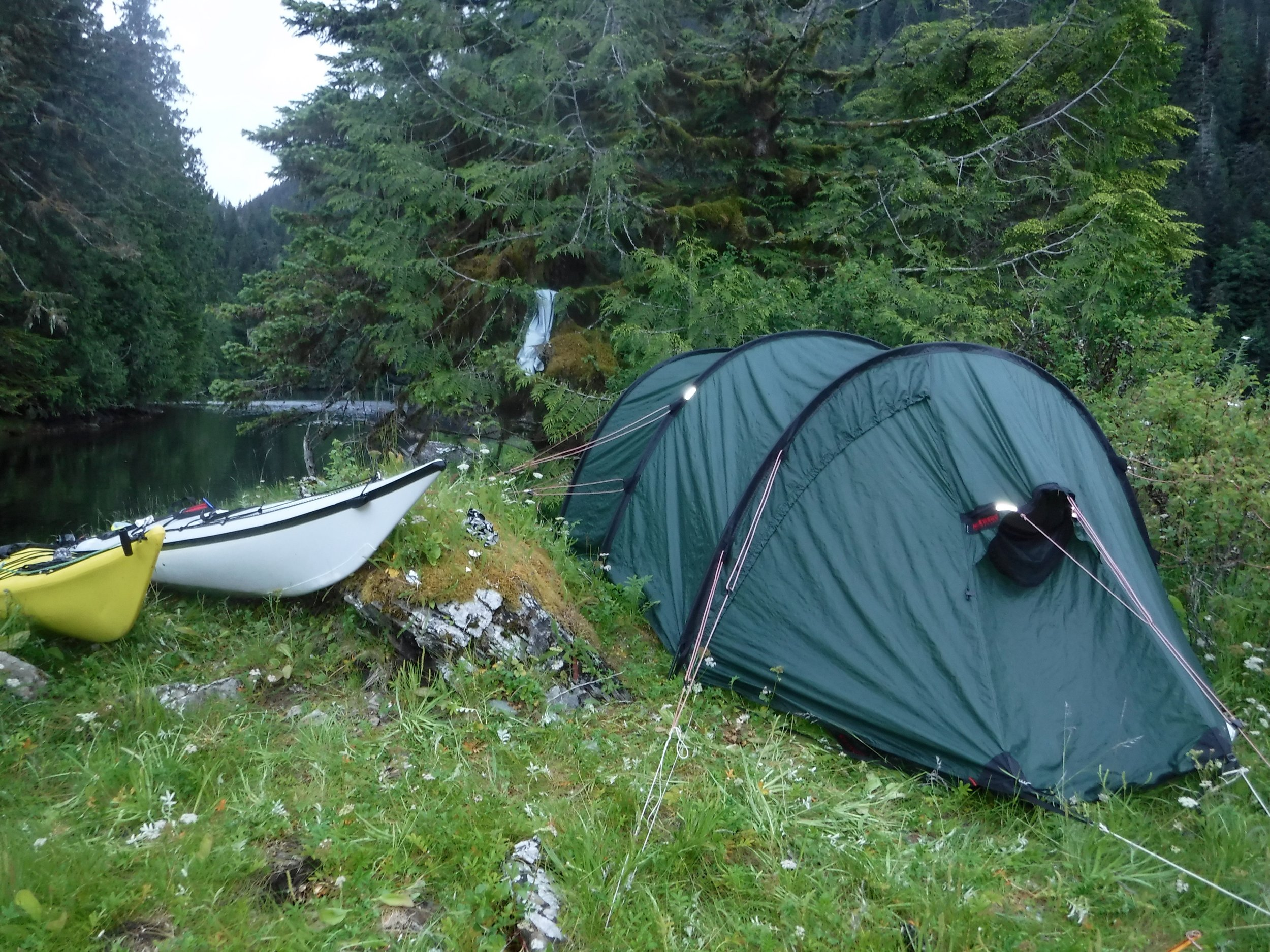 Just enough room for tent and gear,