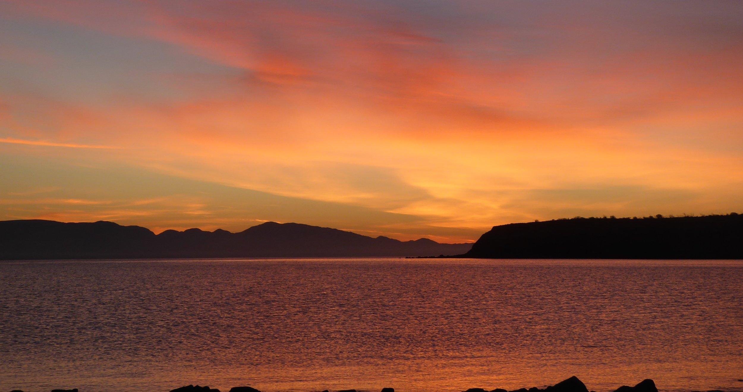 We never get tired of Baja sunrises.