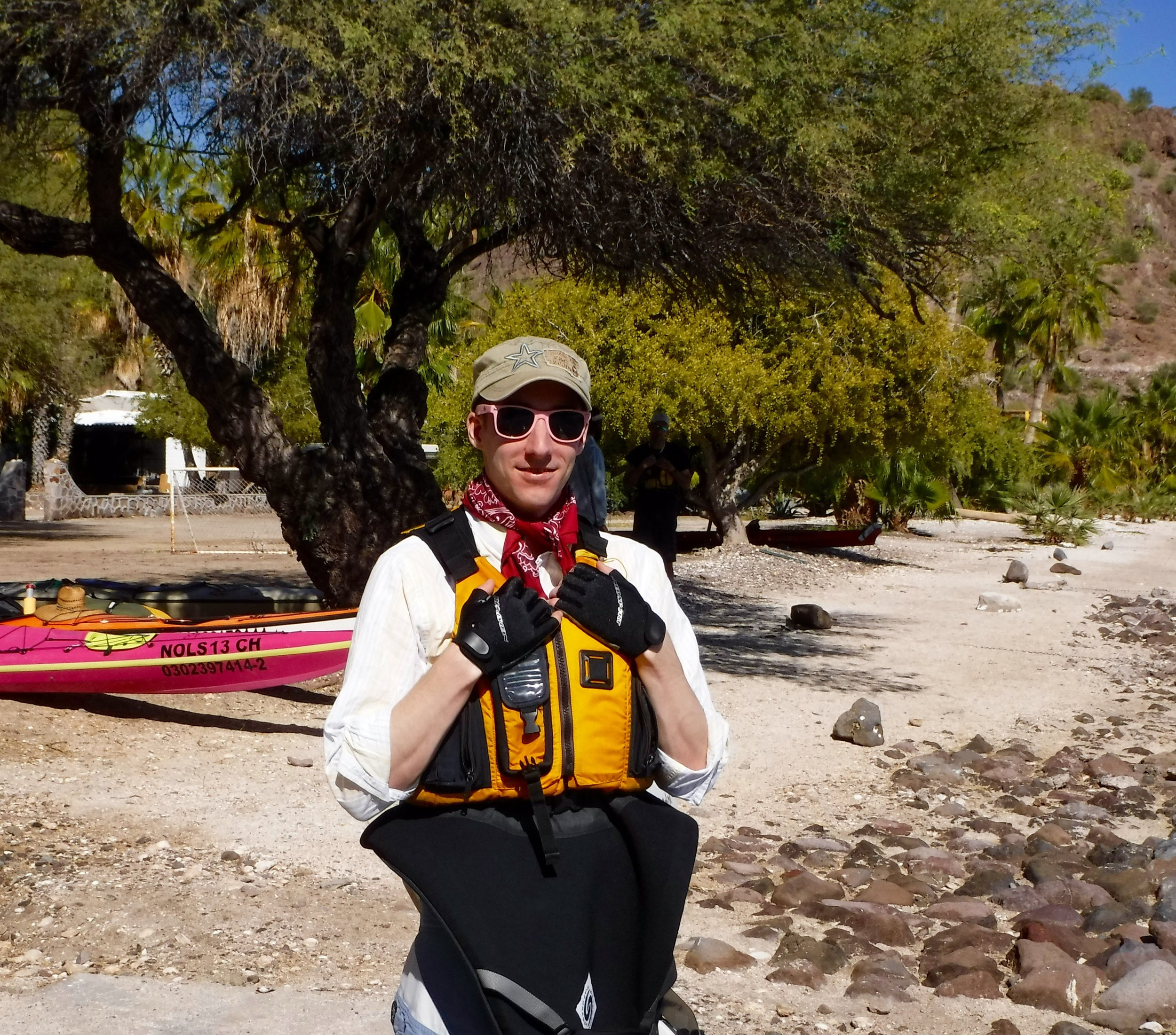 Ready for some kayaking.