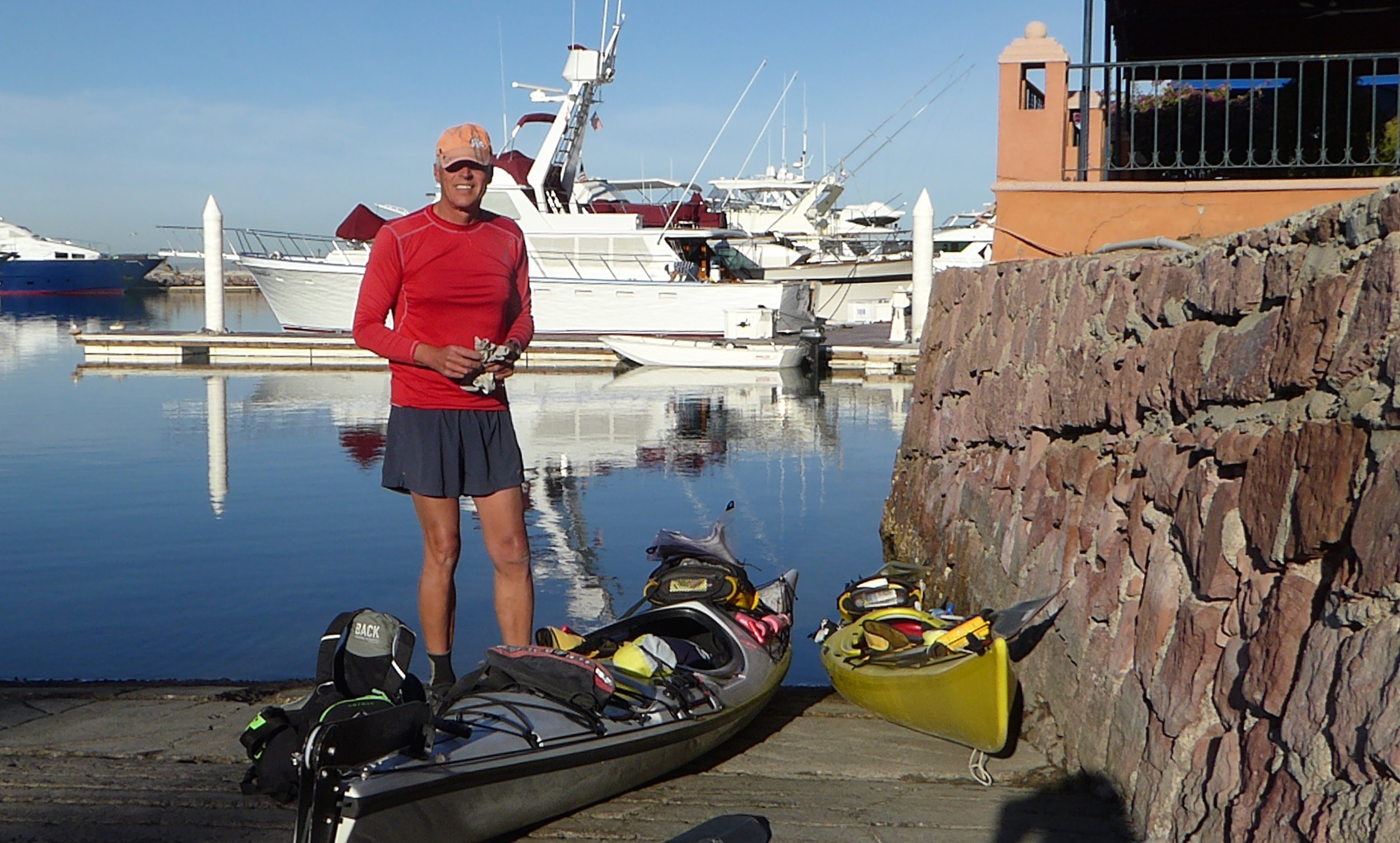 Don finishes getting all the gear in his boat. Back to having heavy boats loaded with food and water.