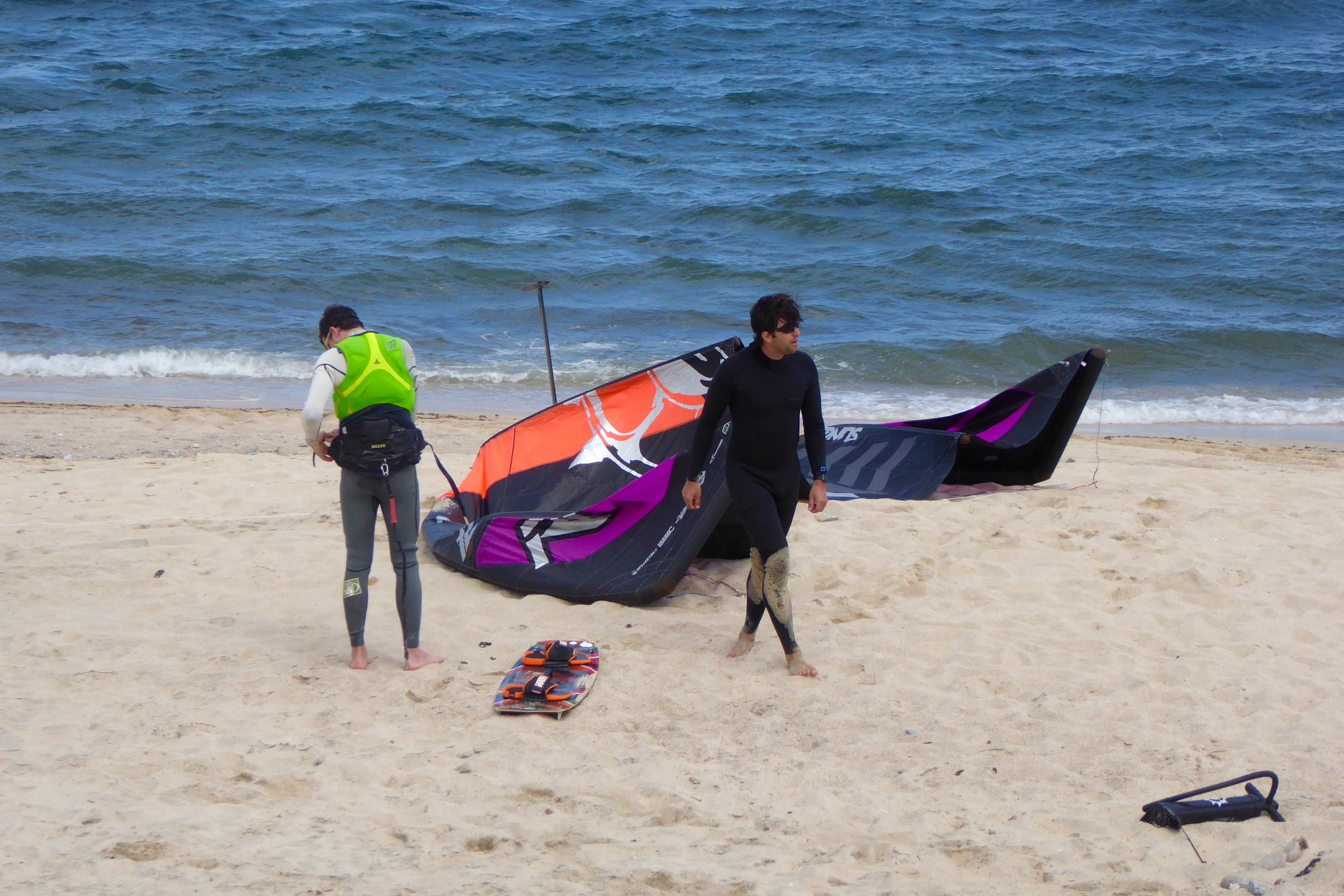 There is a kite and board for just about all the conditions they will encounter.