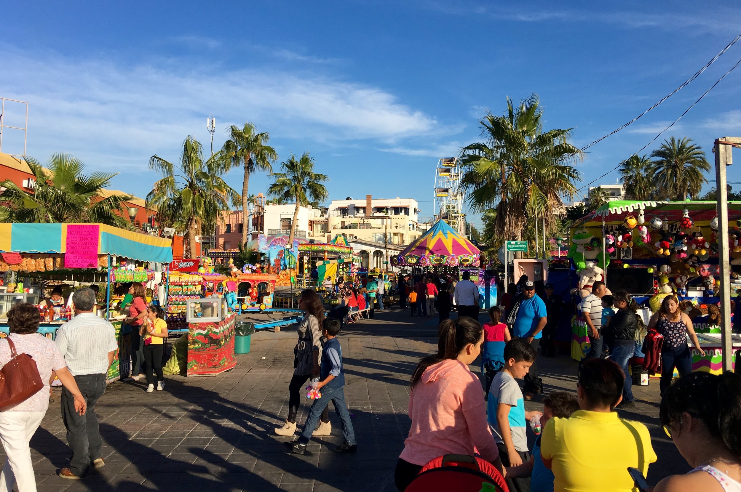 Food and games were the main activities until the parade started and the music began.