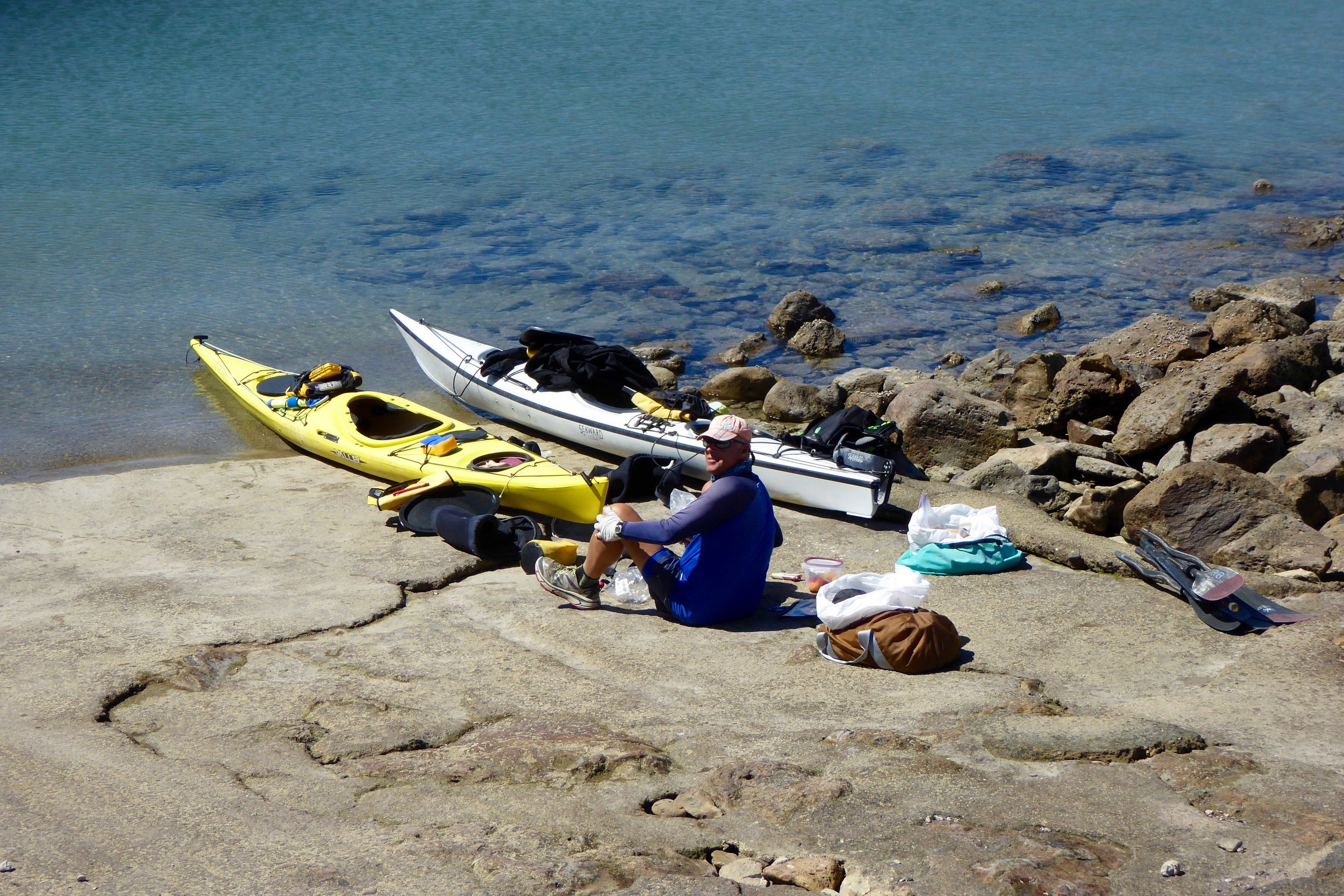 Getting ready to paddle the last section of the Baja coast.