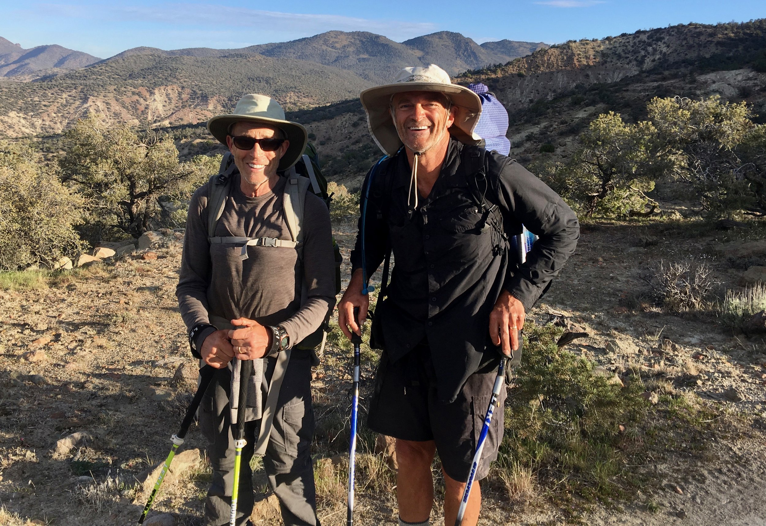They were both 67 so we toasted to the 67 year old folks on the trail today.( That woulds be us also)