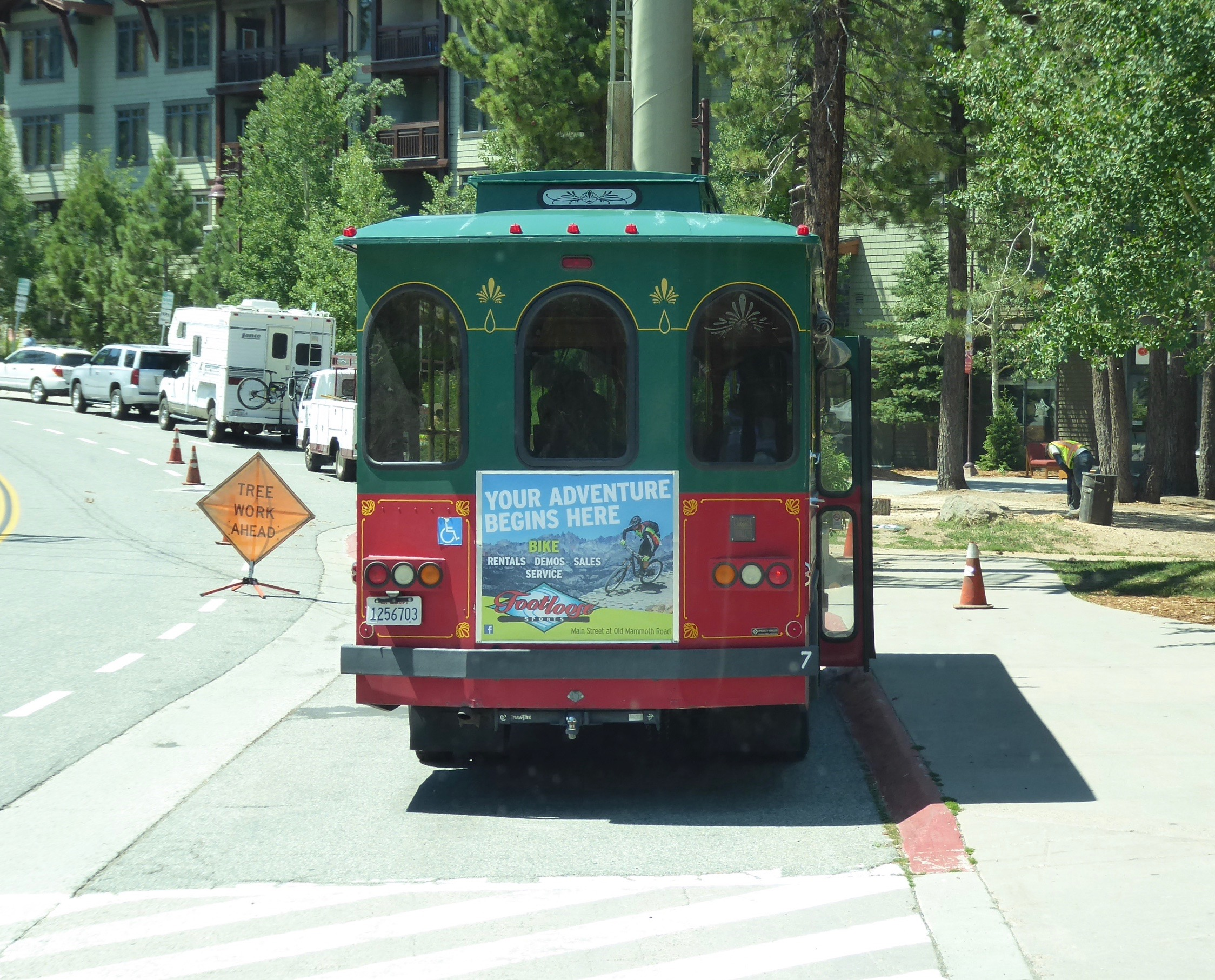 The bus from the resort and the trolley around town is all provided for free.