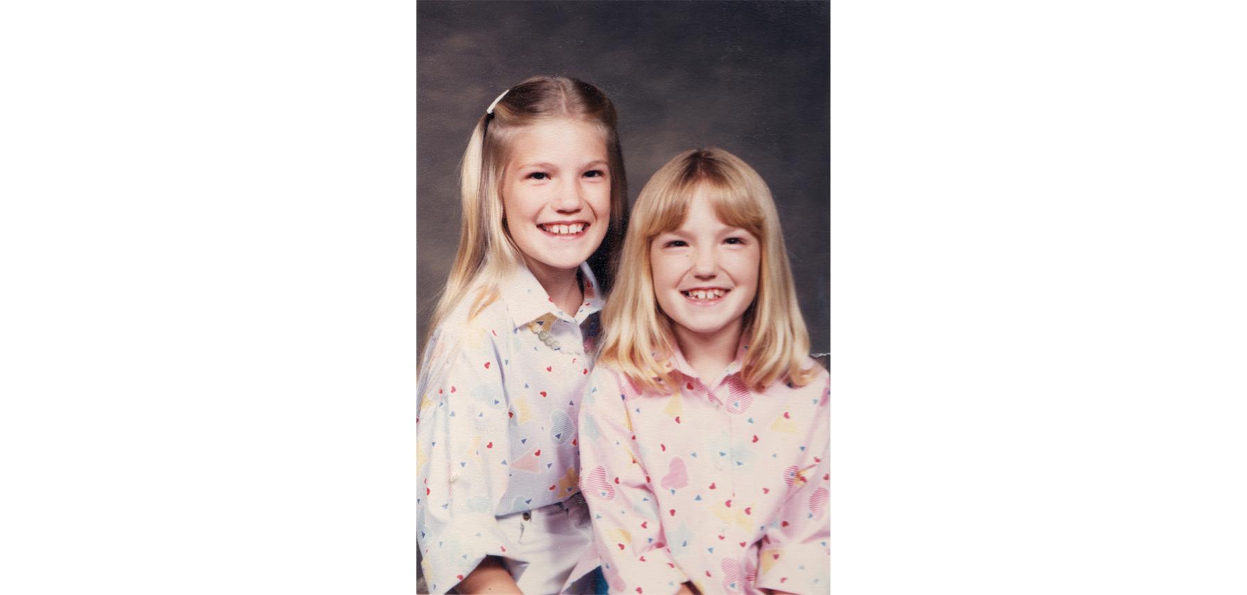 Lisa and Nora, circa 1986