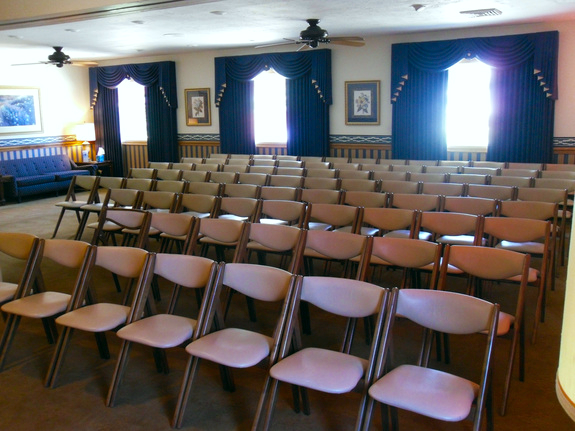 The first of our two chapels provides seating for large visitations and memorial services. Each of our chapels also feature large high definition televisions that provide an elegant setting for video tributes.