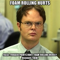 Foam rolling releases the trigger points that allow our muscles to become relaxed.