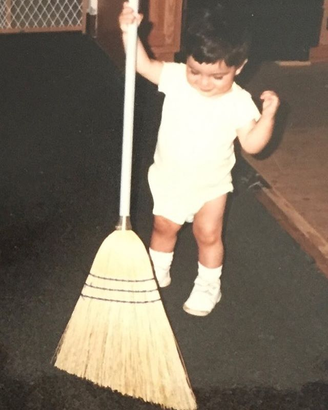 My story: That cute kid with a broom is me when I was 14 months old. My parents had just remodeled and were planning dinner - Fresh veggies from my Dad's garden always made a delightful addition to my Mom's amazing meals.  I took it upon myself to tidy up and when they saw me sweeping the floor they snapped this pic before the moment was lost (they thought). I've been organizing and cleaning ever since and with the help of my Crew we'll ensure your home will be ready when you return home to relax, cook or order in!