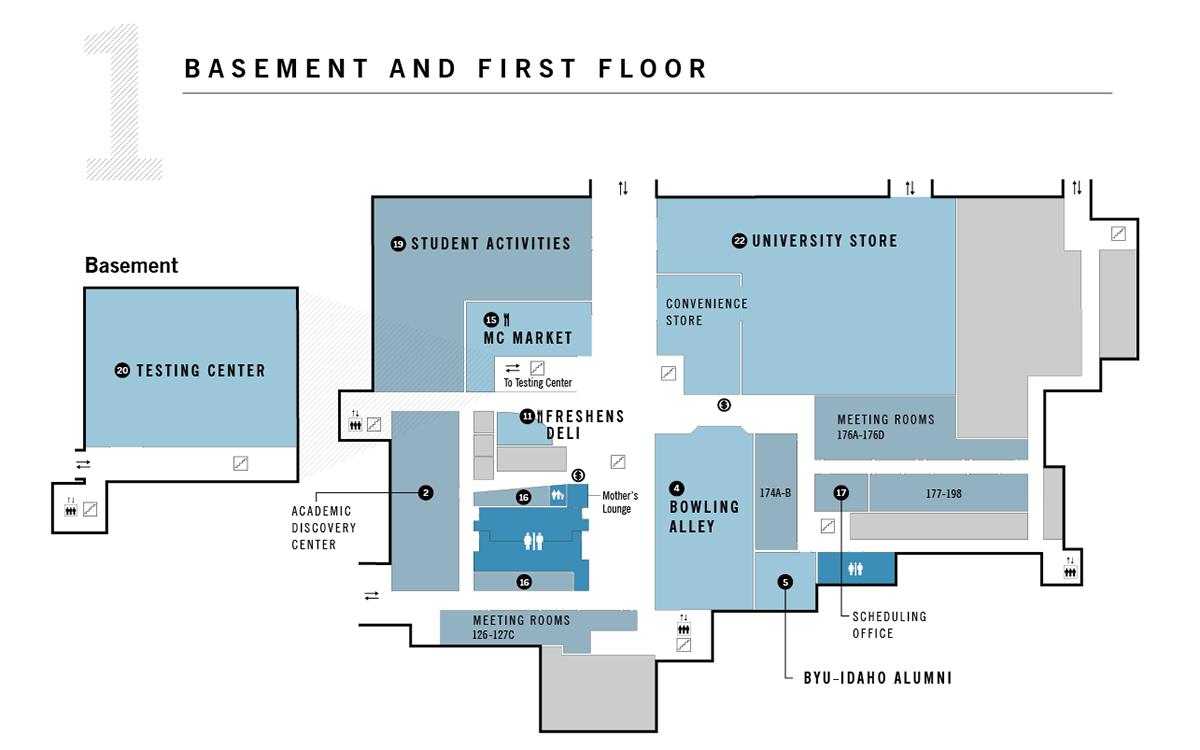 BYU-Idaho Manwaring Center Way-finding Map — Angie Steggell