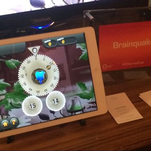 More @brainquakeinc in DC this week! #washington #edtechexpo #2015 #gbl #wuzzittrouble #gamedev