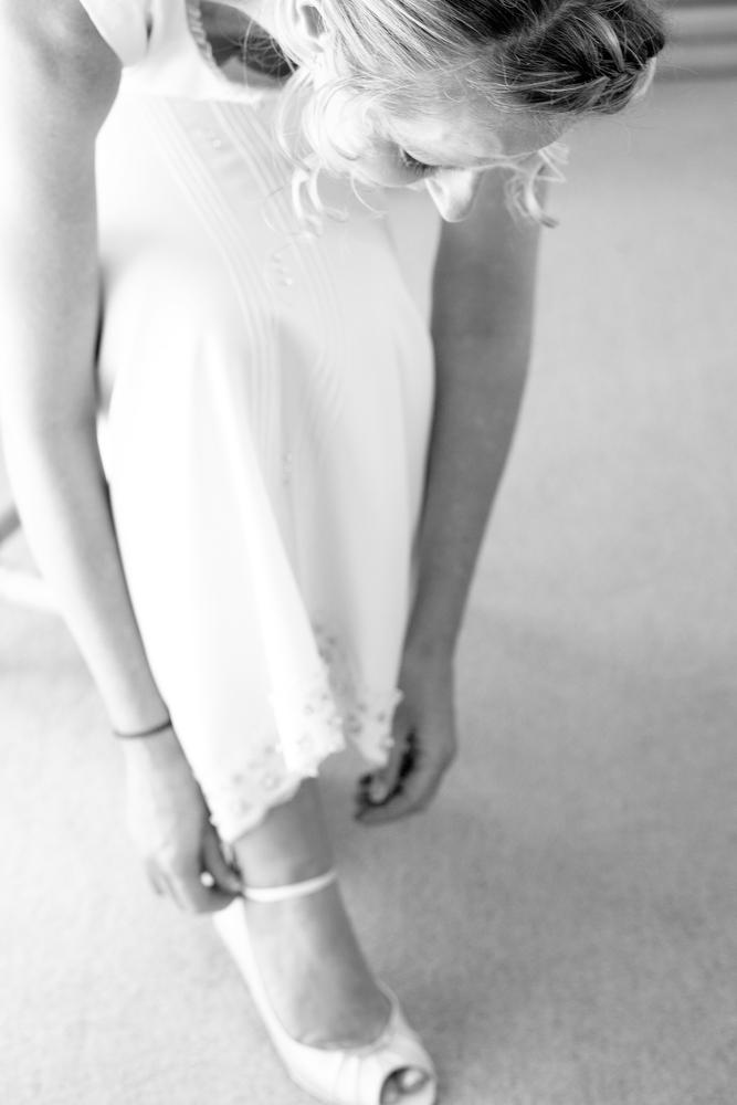 Wedding photo - bride getting ready